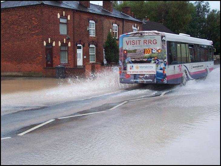 Burst mains Water Pipe