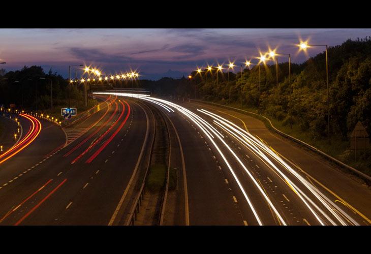 M6 at night