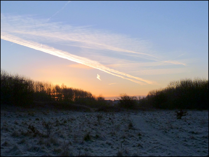 Early frosty morning