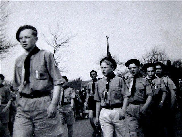 Thomas Linacre Boy Scouts. St. Georges Day, c1954.