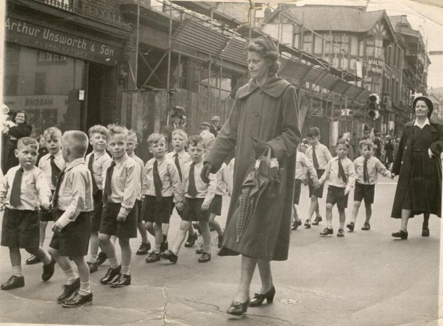 St Mary's walking day, Standishgate, late 1950s.
