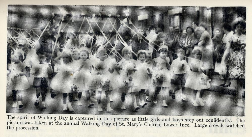 Walking Day 1962. St Mary's Lower Ince.