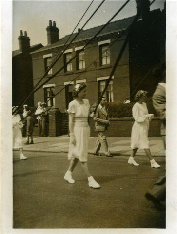 The procession on Ormskirk Rd, c1951.