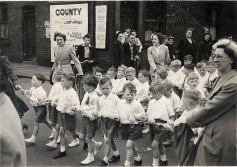 St Catharine's Walking Day, c1950.