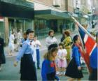St Georges Day Parade, Wigan town centre circa 1991