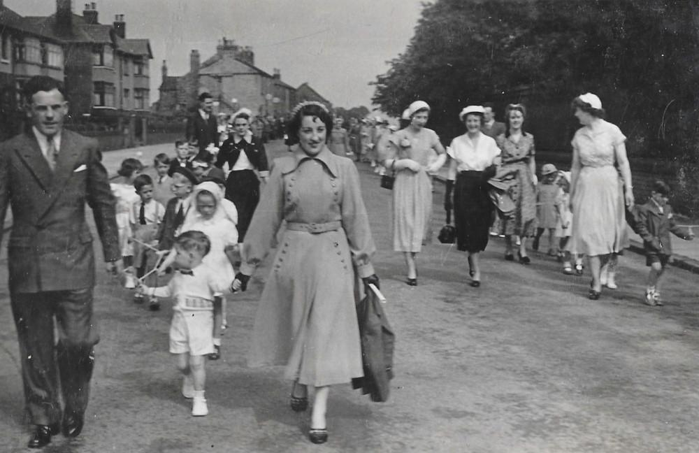 Walking day Orrell 1950's