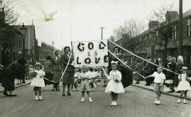 Walking Day, Golborne approx 1952