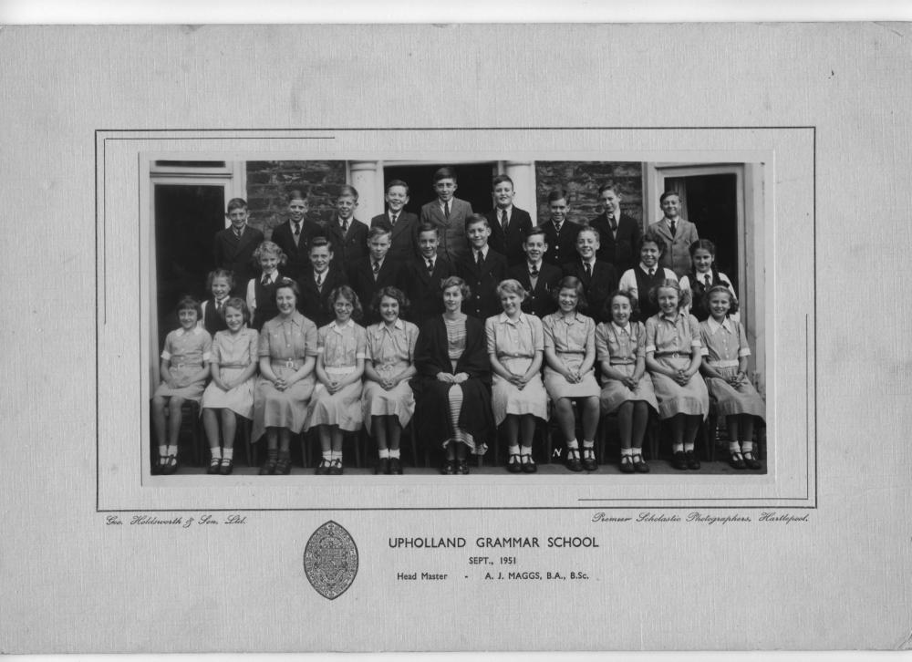 Upholland Grammar ( old school )-Form 2A ,Sept. 1951