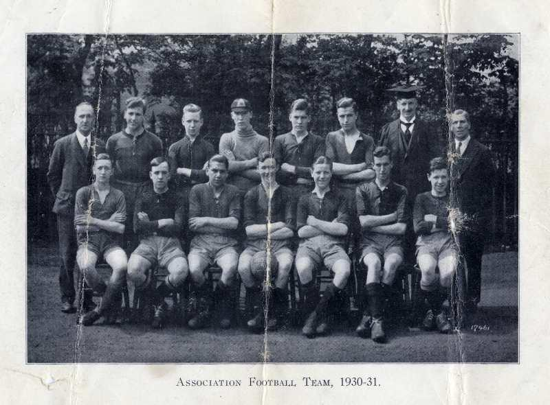 Association Football Team, 1930/31.