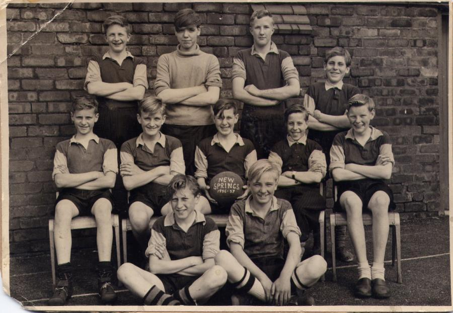 St John The Baptist football team, 1956/7.