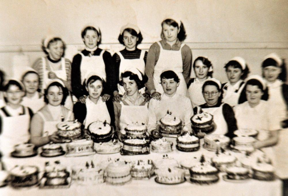 Cookery Class at Moss Lane School, Platt Bridge. circa 1953