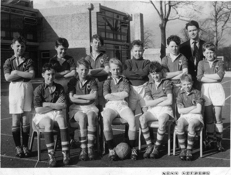 Up Holland Secondary School 1st. Year (1960-61) Football Team.