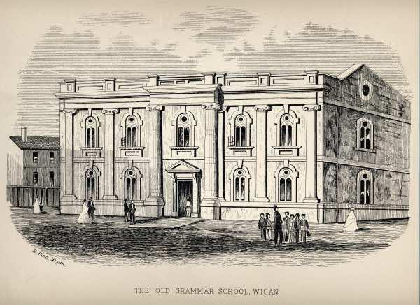 Old Print WIGAN GRAMMAR SCHOOL