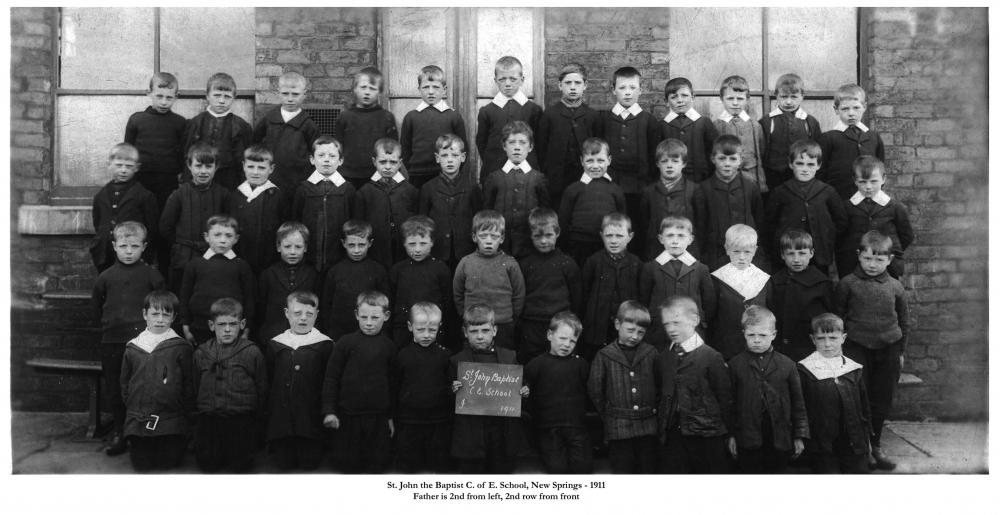 St John the Baptist school, New Springs - 1911