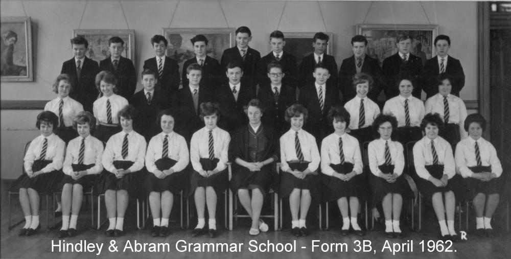 Hindley & Abram Grammar School -  Form 3B, April 1962.
