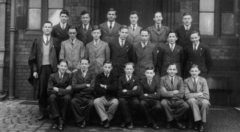 Wigan Grammar School class photo, c1935.
