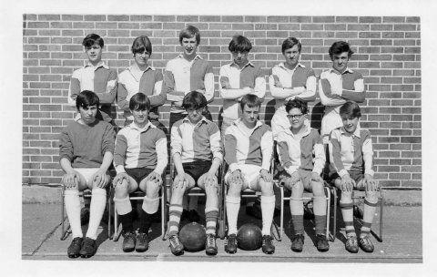 Upholland Secondary School Football Team, late 1960s.