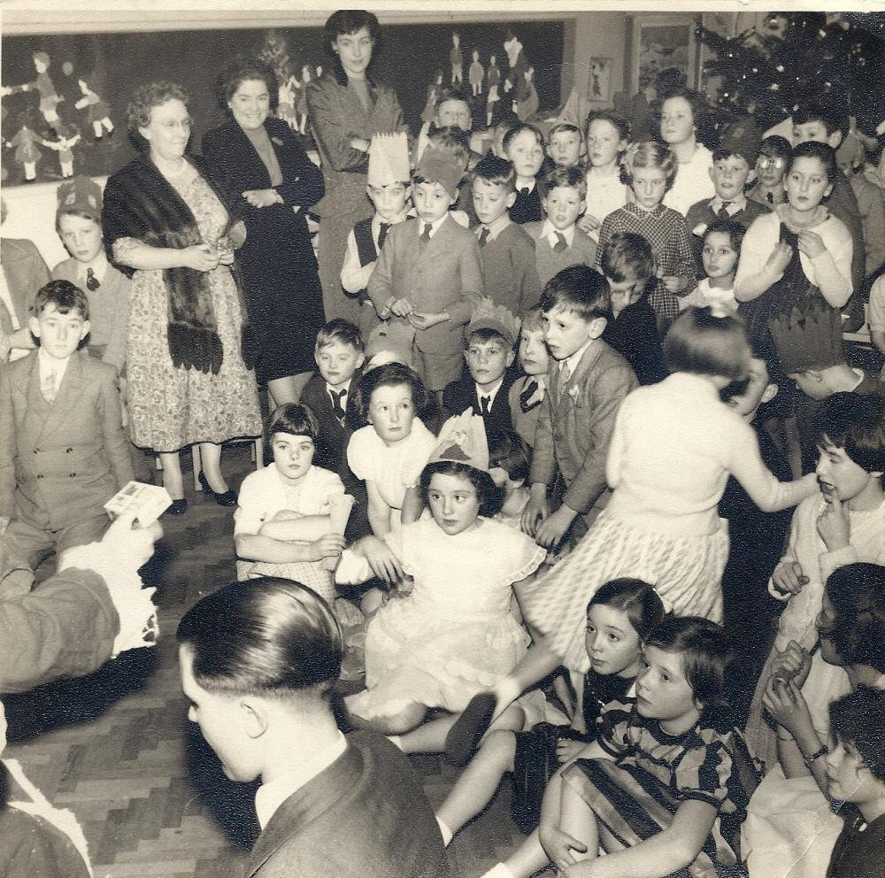 Christmas party Woodfield (1953/4?)