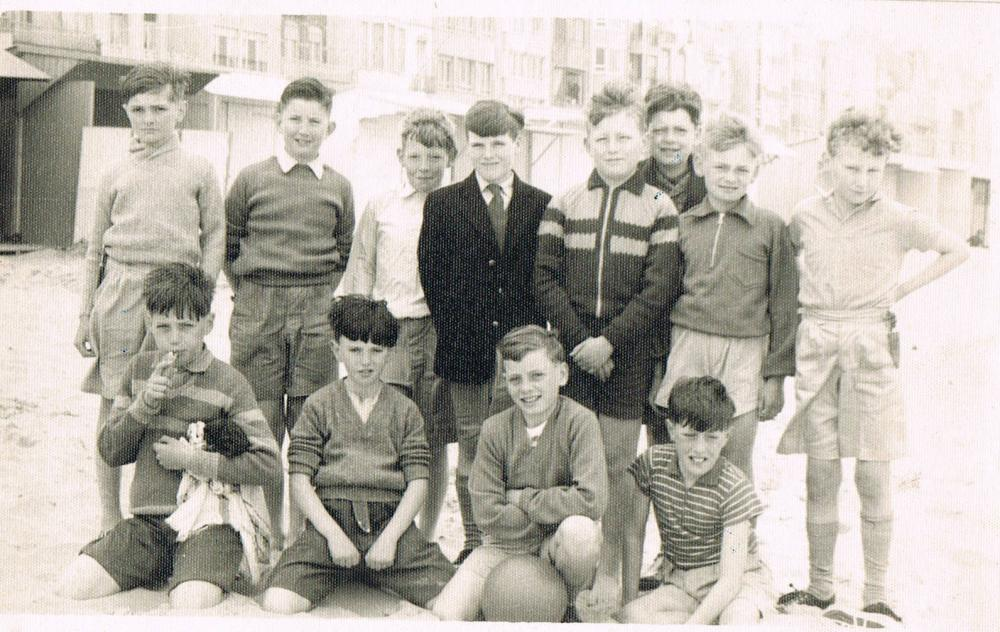 On the beach at Blankenberge, Belgium 1959