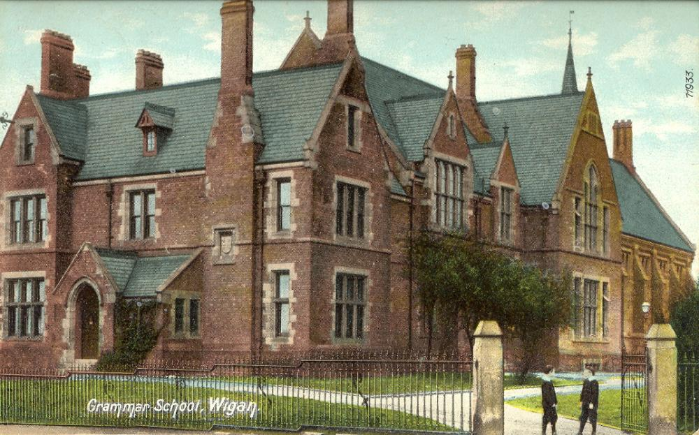 Old Wigan Grammar School, early 20thc.