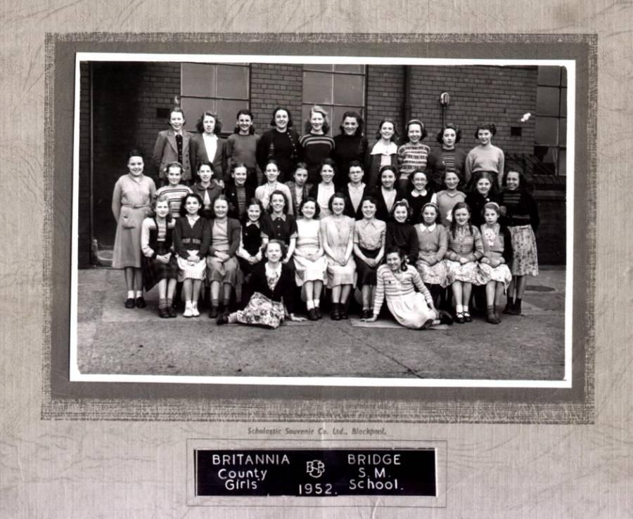 Britannia Bridge Secondary Modern School for Girls, 1952.