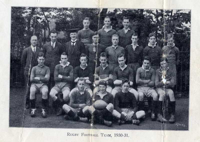 Rugby Football Team, 1930/31.