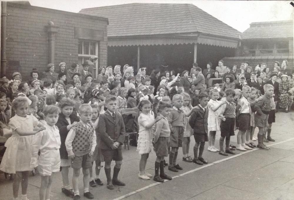 Coronation celebration event at Argyle St. Junior school 1953.