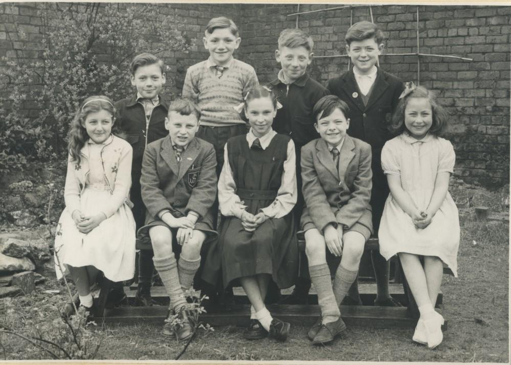 Group of  nine Boys and Girls. 1950's