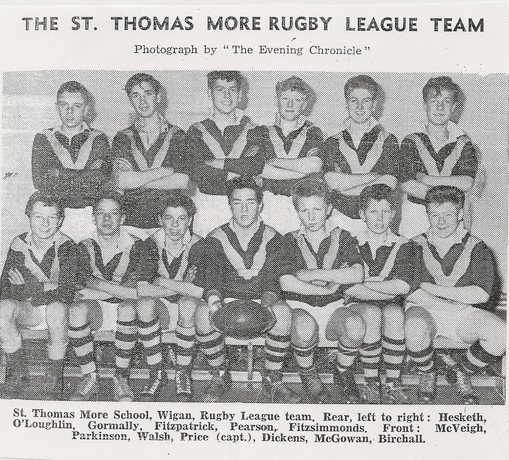 St Thomas More Senior Team 1961