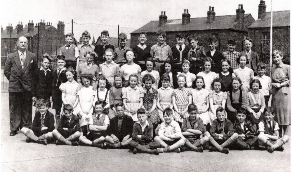 Golborne Juniors. Mr Smallshaw headmaster  can you name the children