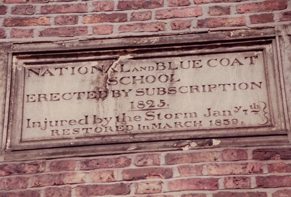 Bluecoat School date stone