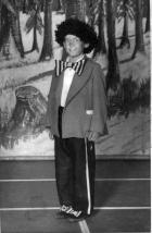 Panto - Harry Johnson as a gollywog, c1952.