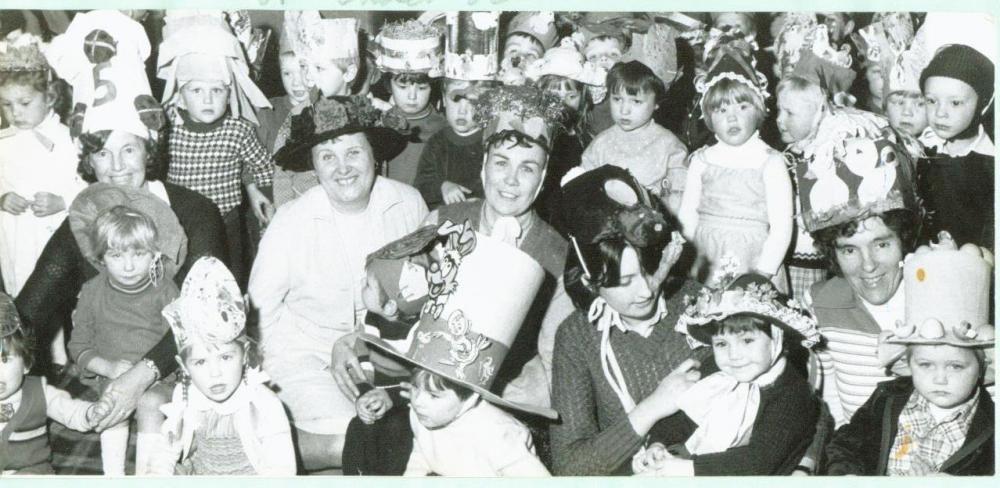 Nursery Easter bonnets 1982