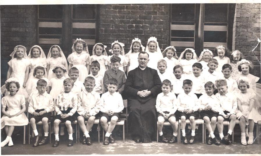 St Benedicts Infants class, circa 1953