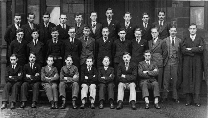 Wigan Grammar School class photo, c1929.