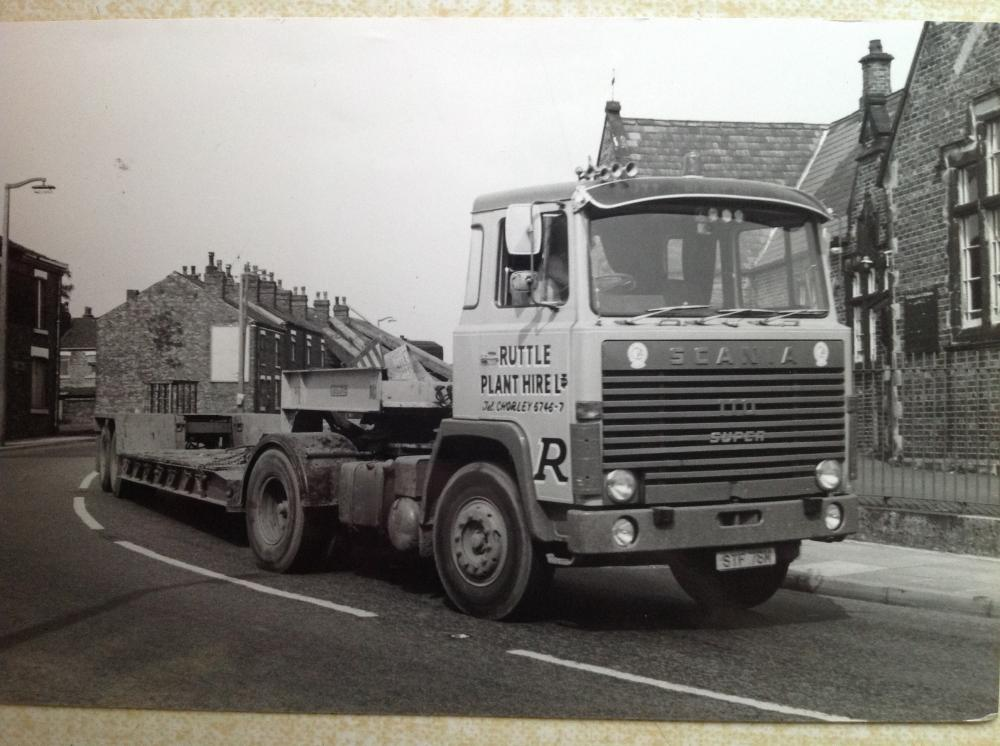 Low loader belonging to Ruttle plant.