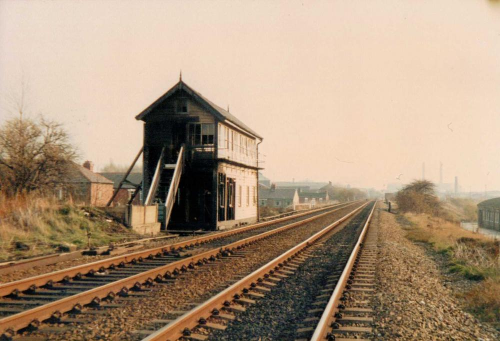 Douglas Bank Signal Box (After Being Burnt Out By Vandals In November 1985)
