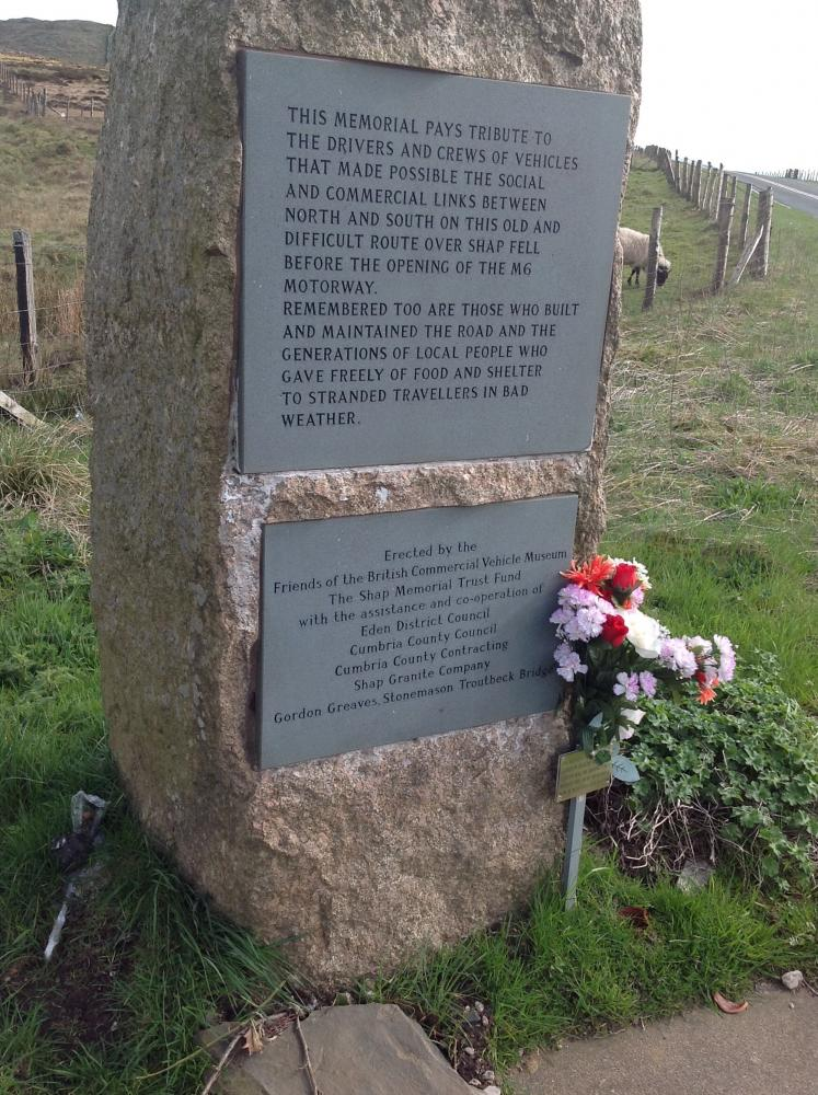 Monument on Shap summit.