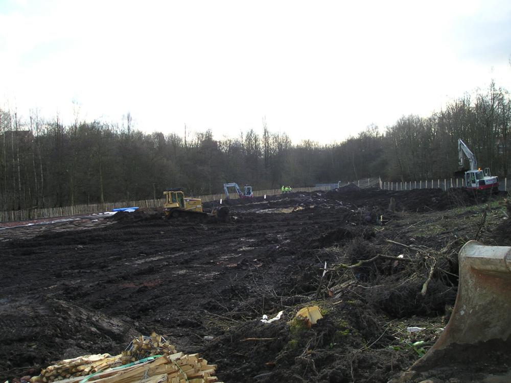 Site clearance for the main dam works. 10-02-10.