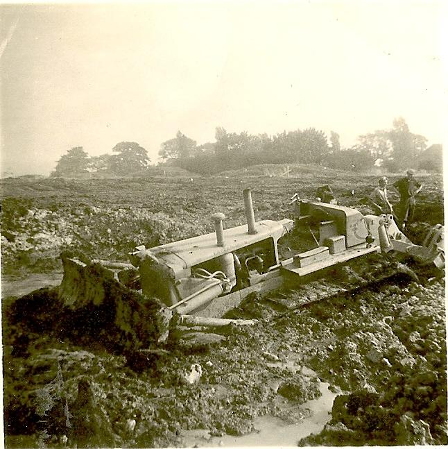 Boundary Lane -D8 dozer.-02-09-1961