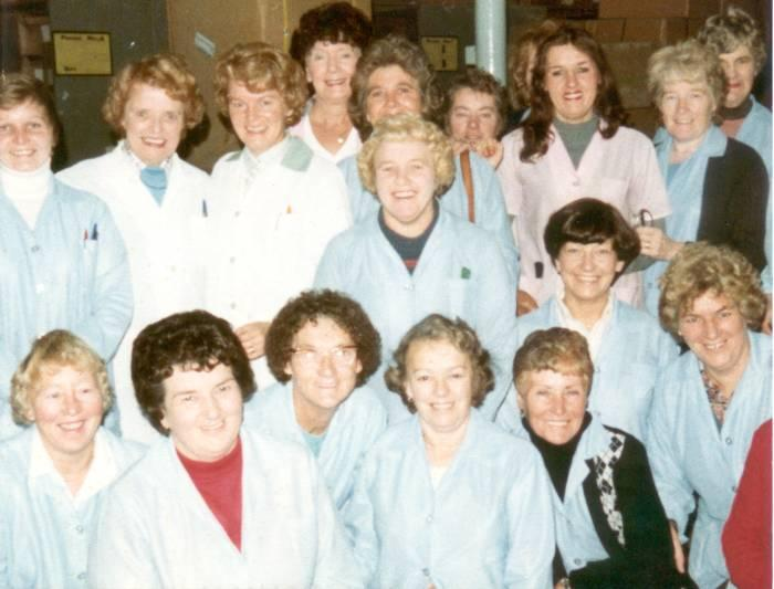 Staff at GUS, Rylands Mill, c1973.