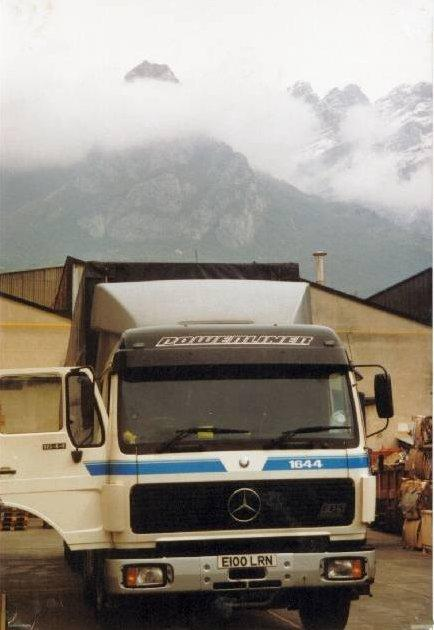 Unloading in Lecco, north of Milan, 1991.