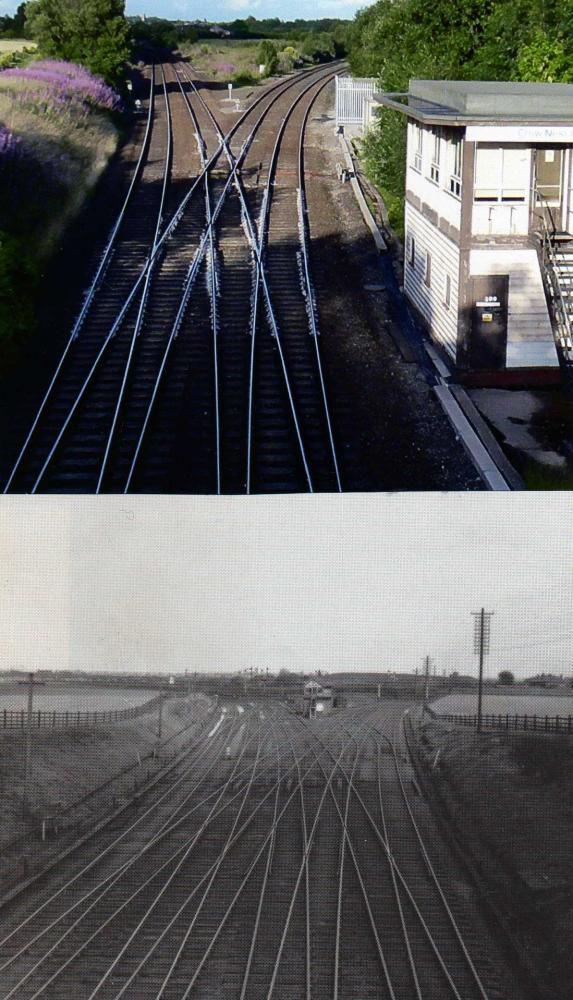 Crow Nest Junction Now and Then.
