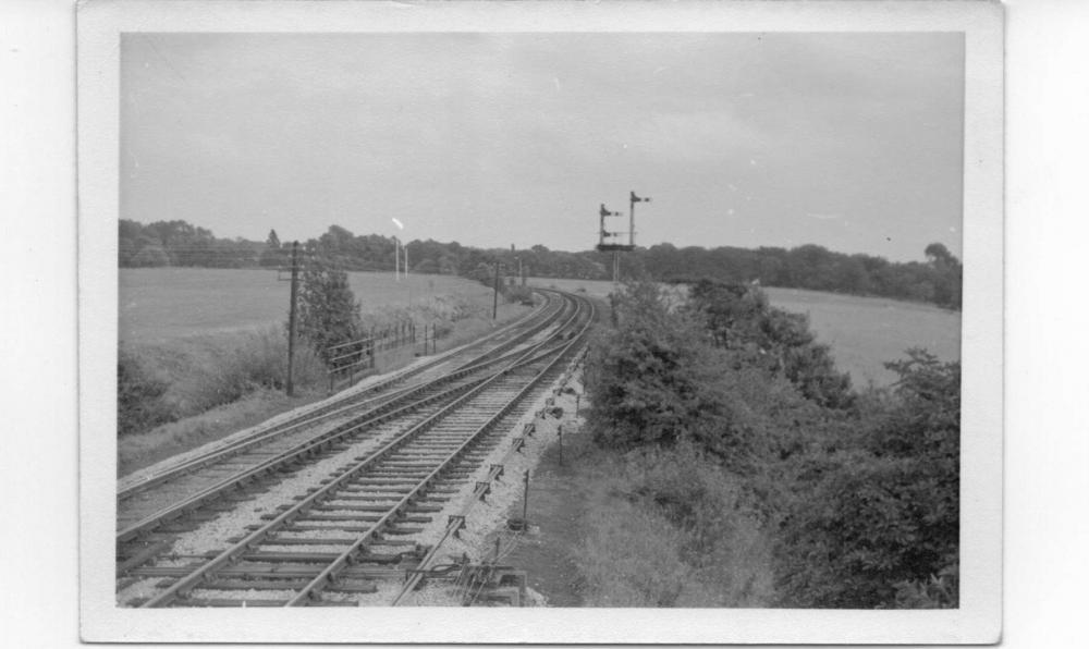 Looking Toward Plantations from Whelley Junction signal-box