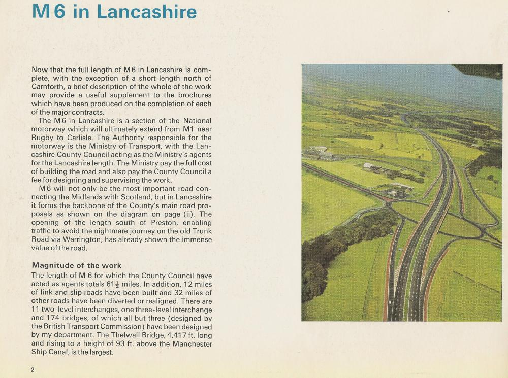M6 in Lancashire Booklet Page 2