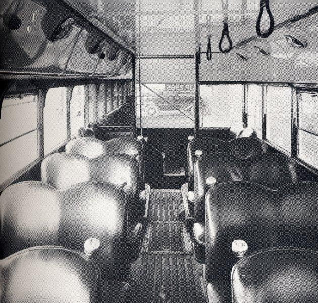 Interior view of Bus No. 96. 1938