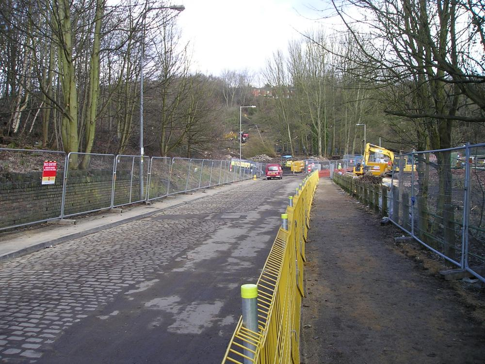 10-02-10.-Coppull Lane Site access to the dam.
