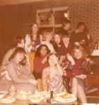 Christmas day party in nurses sitting room 1977