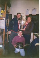 Debenhams staff with Rugby cup approx 1993