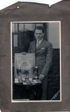 Dad with his medals and cups he won  JamesEdwards
